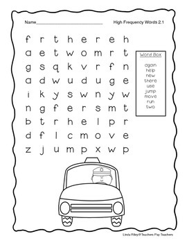 McGraw Hill Wonders Unit 2 High Frequency Word Searches, First Grade