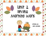 McGraw Hill Wonders Unit 2 Review Morning Work
