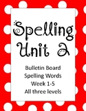 McGraw Hill Wonders Unit 2 Spelling List