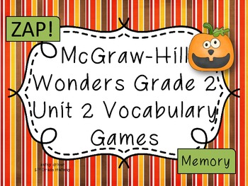 McGraw-Hill Wonders Unit 2 Vocabulary Games