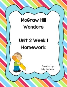 McGraw Hill Wonders Unit 2 Week 1 Homework