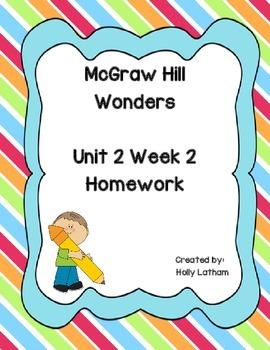 McGraw Hill Wonders Unit 2 Week 2 Homework
