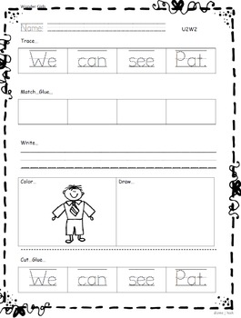 Kindergarten Wonders: Unit 2 Week 2- Lesson Plan/Activities