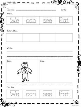 Kindergarten: Unit 2 Week 2- Lesson Plan/Activities