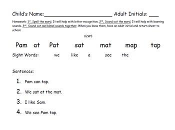 Kindergarten Wonders: Unit 2 Week 3- Lesson Plan/Activities