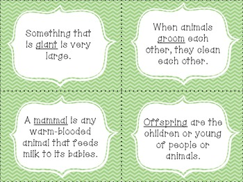 McGraw Hill Wonders Unit 2 vocabulary cards