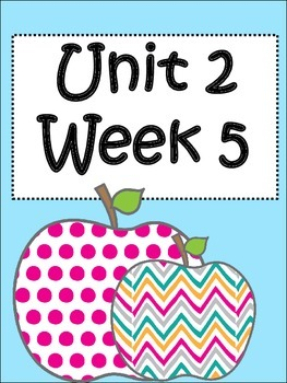 Unit 2/Week 5 :Third Grade