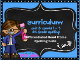 McGraw Hill Wonders Unit 3 4th Grade Spelling Lists