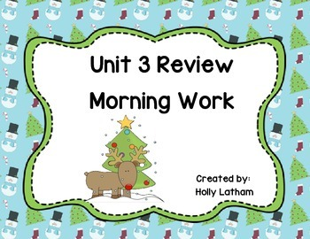 McGraw Hill Wonders Unit 3 Review Morning Work