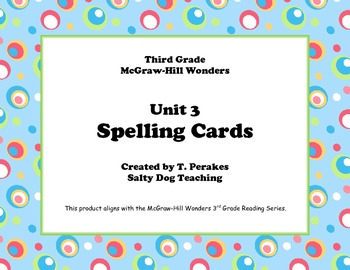McGraw Hill Wonders Unit 3 Spelling - colorful circles background