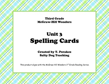McGraw Hill Wonders Unit 3 Spelling - plaid background