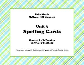 McGraw Hill Wonders Unit 3 Spelling - plaid background