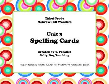 McGraw Hill Wonders Unit 3 Spelling - retro circles background