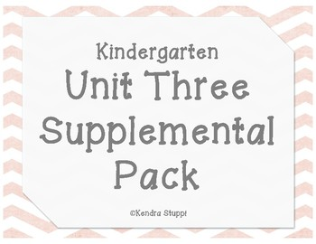 Unit 3 Supplemental Pack