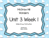 McGraw Hill Wonders Unit 3 Week 1 First Grade