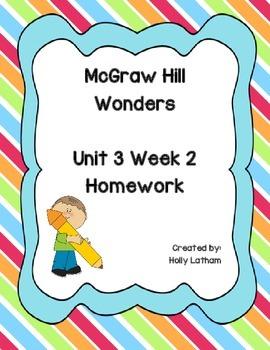 McGraw Hill Wonders Unit 3 Week 2 Homework