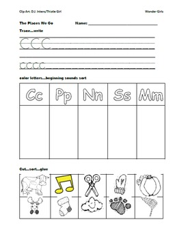 Kindergarten Wonders: Unit 3 Week 3- Lesson Plans/Activities