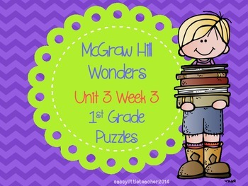 McGraw Hill Wonders Unit 3 Week 3 Puzzles
