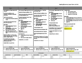 McGraw Hill Wonders Unit 3, Week 3 Reading and Grammar Les
