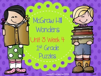 McGraw Hill Wonders Unit 3 Week 4 Puzzles