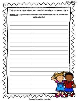 McGraw Hill Wonders Unit 3 Writing Prompts - 2nd Grade