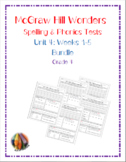 McGraw Hill Wonders: Unit 4 BUNDLE of Spelling & Phonics T