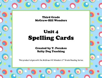 McGraw Hill Wonders Unit 4 Spelling - colorful circles background