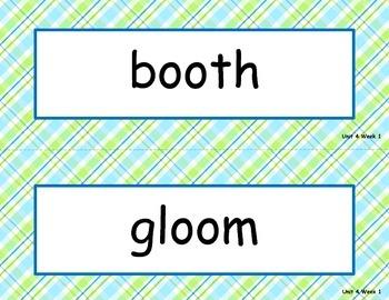 McGraw Hill Wonders Unit 4 Spelling - plaid background
