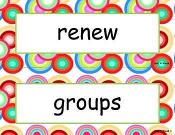 McGraw Hill Wonders Unit 4 Spelling - retro circles background