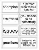McGraw Hill Wonders Unit 4  Vocabulary Words Flash Cards 2