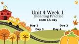 McGraw Hill Wonders Unit 4 Week 1 Phonics Blending Practice