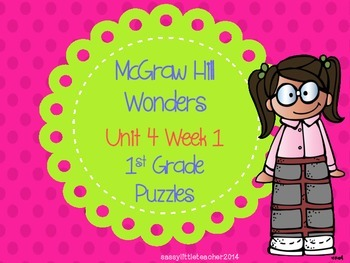 McGraw Hill Wonders Unit 4 Week 1 Puzzles
