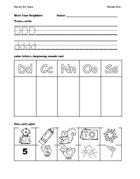 Kindergarten: Unit 4 Week 2- Lesson Plans/Activities