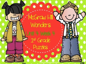 McGraw Hill Wonders Unit 4 Week 4 Puzzles