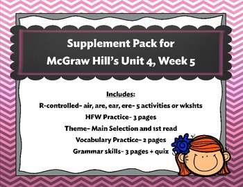 McGraw Hill Wonders Unit 4, Week 5 Supplemental Activity Pack