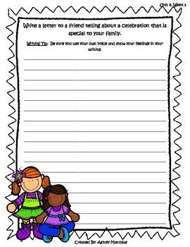 McGraw Hill Wonders Unit 4 Writing Prompts - 2nd Grade