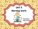 McGraw Hill Wonders Unit 5 Morning Work