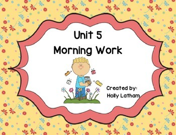 McGraw Hill Wonders Unit 5 Morning Work