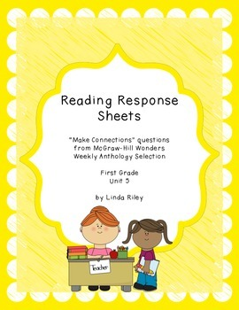 McGraw Hill Wonders Unit 5 Reading Response, First Grade