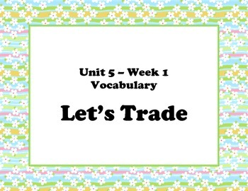 McGraw Hill Wonders Unit 5 Vocabulary Words & Definitions Cards - spring flowers