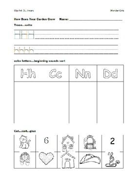 Kindergarten: Unit 5 Week 1- Lesson Plans/Activities
