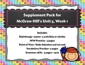 McGraw-Hill Wonders Unit 5, Week 1 Supplemental Pack