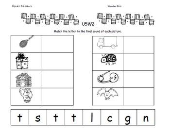 Kindergarten Wonders: Unit 5 Week 2- Lesson Plans/Activities