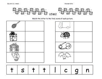 Kindergarten: Unit 5 Week 2- Lesson Plans/Activities