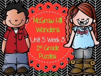 McGraw Hill Wonders Unit 5 Week 3 Puzzles