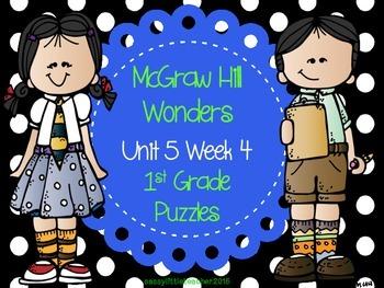 McGraw Hill Wonders Unit 5 Week 4 Puzzles