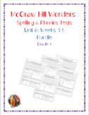 McGraw Hill Wonders: Unit 6 BUNDLE of Spelling & Phonics T