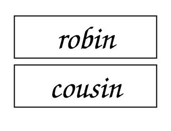 McGraw Hill Wonders Unit 6 Enlarged Spelling Words