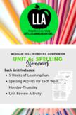 McGraw-Hill: Wonders Unit 6 Spelling Homework