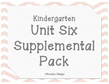 McGraw Hill - Wonders - Unit 6 Supplemental Pack